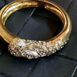 Alexis Bittar Crystal Encrusted Bronze Bracelet